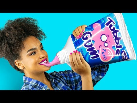 DIY Giant Candy vs Miniature Candy  Funny Pranks!