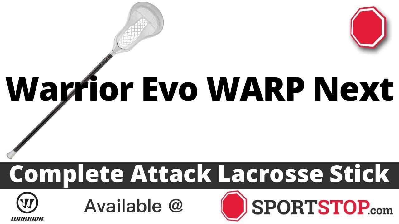 e7e39d93fab Warrior Evo WARP Next Complete Attack Lacrosse Stick Product Video   SportStop com