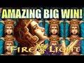 ★AMAZING SUPER BIG WIN!★ 😍 VOLCANOES! FIRE LIGHT II Slot Machine Bonus (Aristocrat)