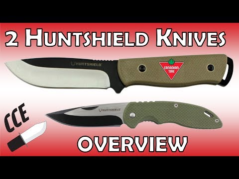 Overview Of 2 Huntshield Knives With Mini RANT @ Canadian Tire Store