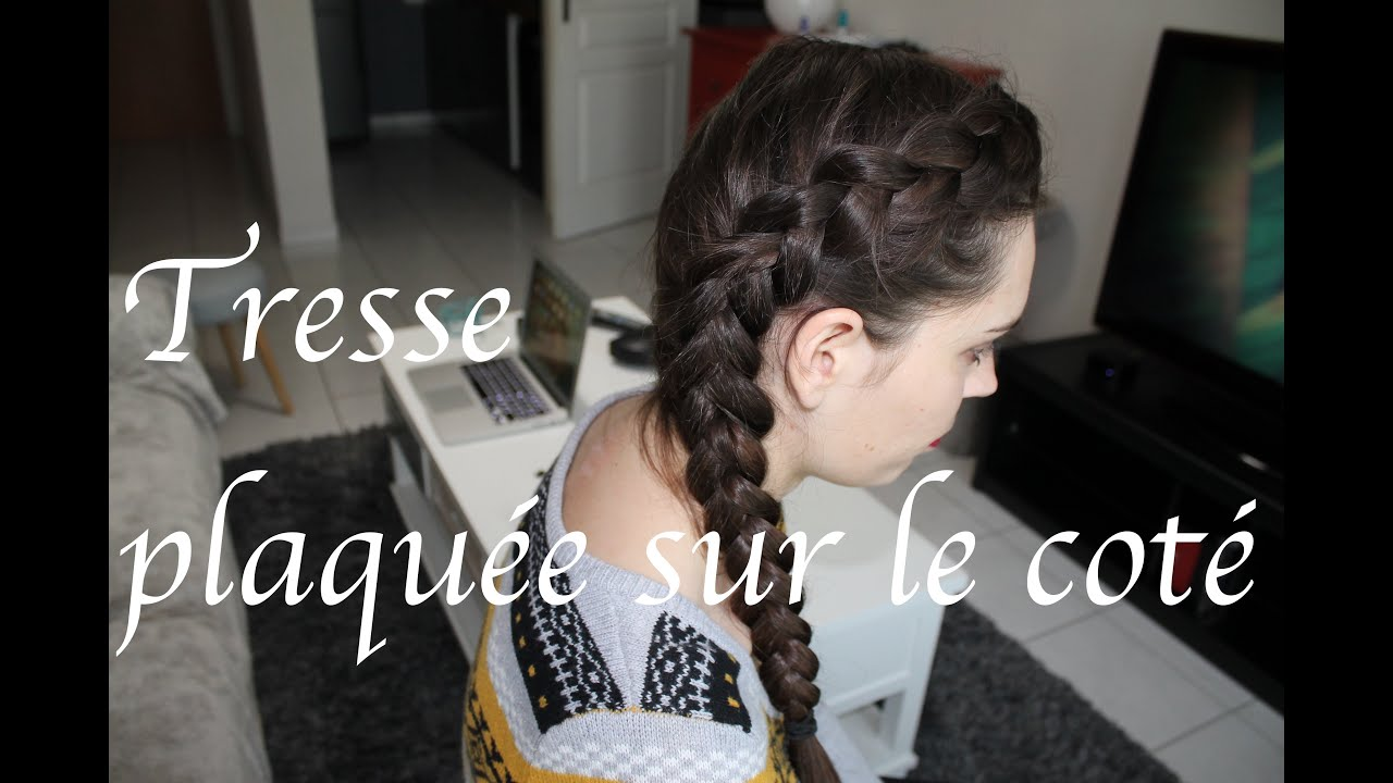 tuto coiffure n 2 tresse coll e sur le cot dutch braid plaqu e youtube. Black Bedroom Furniture Sets. Home Design Ideas