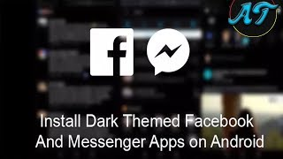 Get Black Facebook & Messenger [Don't watch] App for Android HD Video