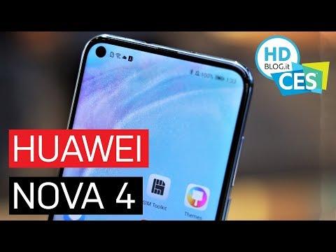 HUAWEI NOVA 4 ha display con il FORO e fotocamera grandangolare | CES 2019