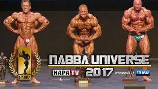 NABBA Mr Universe 2017 - Over 40's Posedown & Winners
