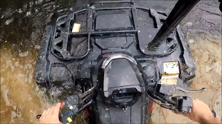 2016 Honda Rubicon 500 IRS Trail/River Bogging and Riding