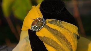 Модные аксессуары осени.  Кольца для платка и шарфа, как носить.  Обзор