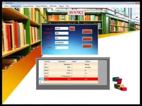 Final Year Projects Library Management System - YouTube