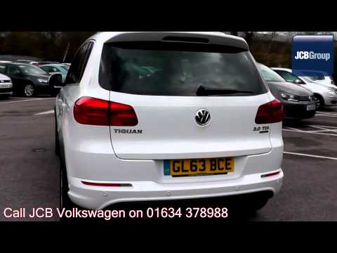 2013 Volkswagen Tiguan BlueMotion R Line 2l Pure White GL63BCE for sale at JCB VW Medway