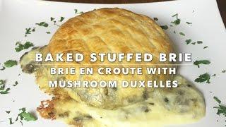 Baked Stuffed Brie - 2016 Red Carpet Menu for Oscar - SHROOM for ROOM