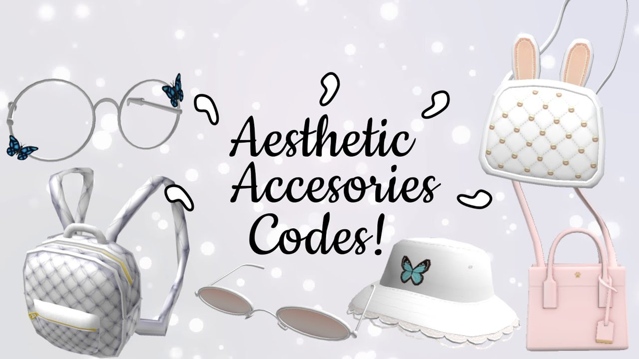 50  CUTE AESTHETIC ACCESSORY CODES FOR BLOXBURG ~ YouTube