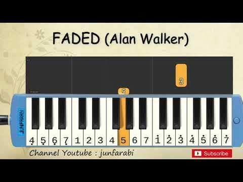 Not Pianika Faded - Alan Walker - Tutorial Belajar Pianika
