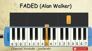 not pianika faded - alan walker - tutorial belajar pianika