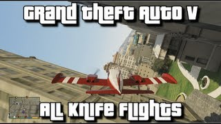 GTA V - All Knife Flights - 100% Collectibles Guide - Close Shave Achievement/Trophy
