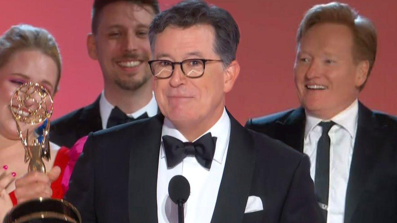 Watch Conan O'Brien Crash Stephen Colbert's Emmys Speech