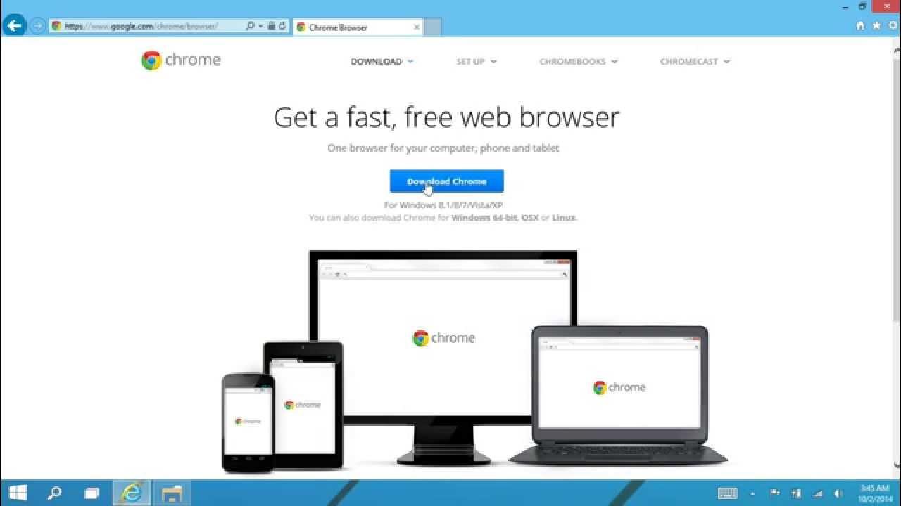 Installing Chrome 32 bit in Windows 10