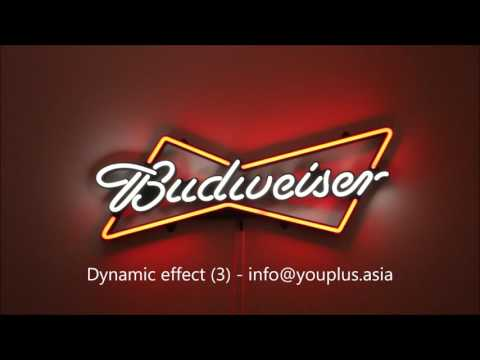 Budweiser Bowtie LED Neon sign - Dynamic Effects - You Plus