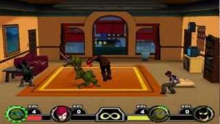 TMNT Mutant Melee PC 1080P HD Playthrough with LEONARDO - APRIL