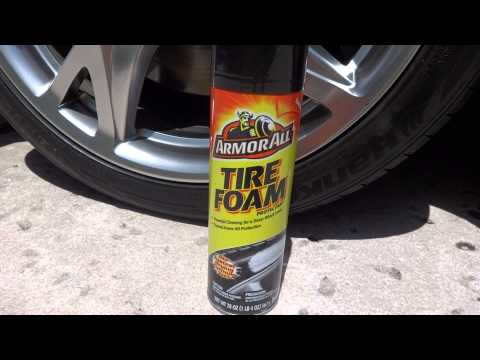 Armor All Tire Foam Test Results Review Before And After On