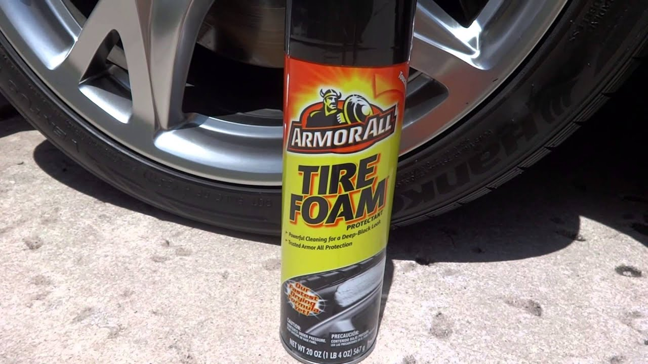 Armor All Tire Foam Test Results Review Before And After On My 2009 Nissan 370z