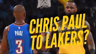 Rumor: Chris Paul Would 'Love' To Join Lakers?
