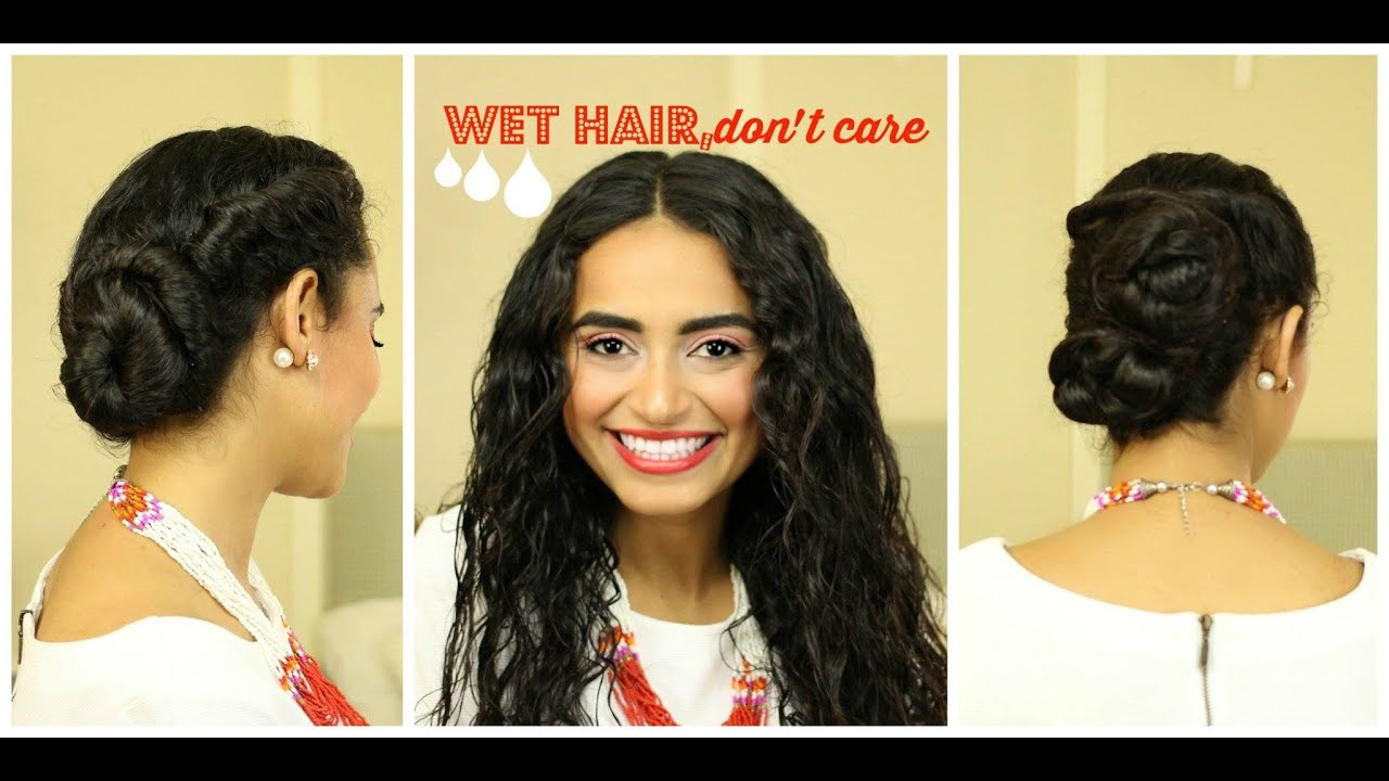 Style Your Wet Hair 2 Easy Styles