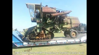 1963 John Deere 95RC Combine with Factory Tracks and Air
