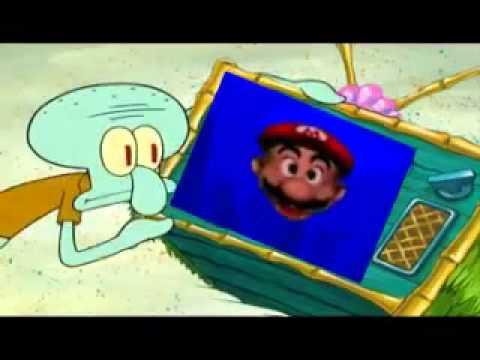 SpongeBob SquarePants - Mario Moving on the ground - YouTube