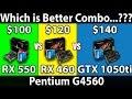 RX 550 (4GB) vs RX 460 (4GB) vs GTX 1050ti (4GB)   Pentium G4560   DX11 & DX12   14 Games Benchmarks