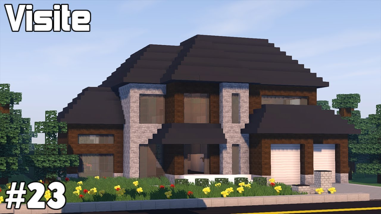 Minecraft Grande Maison Moderne Americaine Youtube