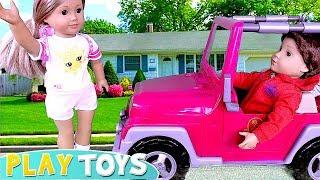 Лялька АГ рожевий автомобіль і кемпінг іграшки грати!