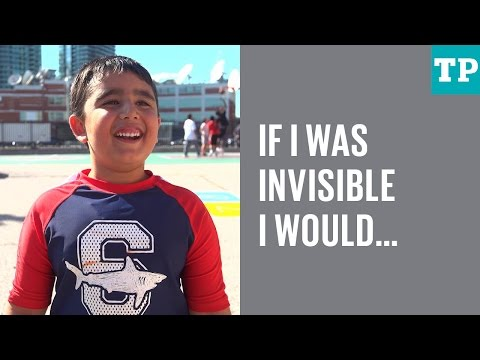 Kid Talk: If you were invisible for a day, what would you do?