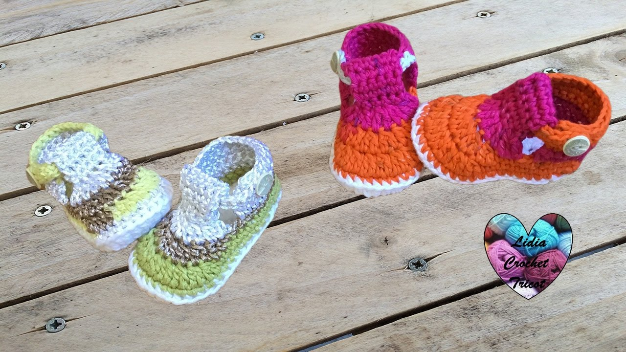 Sandales Bébé Crochet Très Facile 22 Crochet Baby Sandals Very Easy