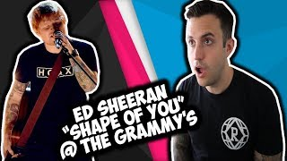 "Ed Sheeran ""Shape Of You"" Grammy Performance REACTION"