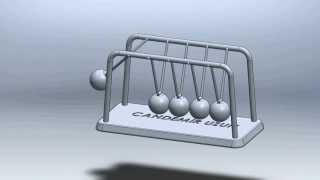 Solidworks Ile Newton Beşiği Tasarımı [newton's Cradle Design With Solidworks]
