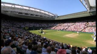 Novak Djokovic - Juan Martin del Potro Wimbledon 2013 SET 4 Time Break