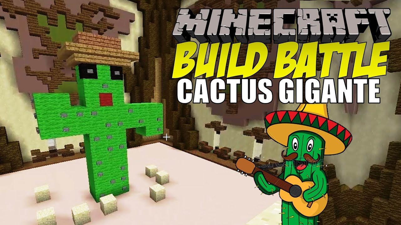 Minecraft build battle el cactus gigante youtube for Casa moderna rey zerch