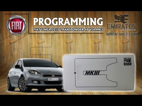 How To Program Fiat Linea 2010 - Transponder 48 via MK3