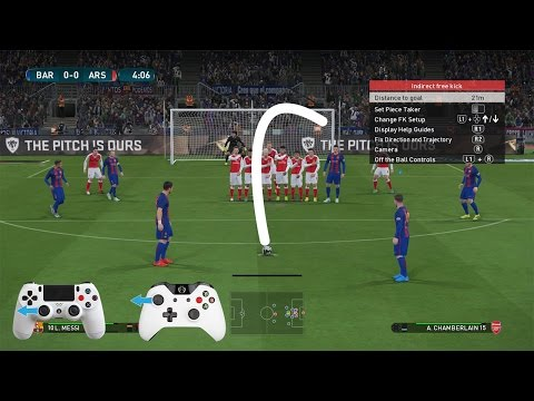 pes 2017 free kick tutorial xbox playstation hd youtuby