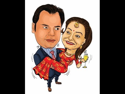 Romantic Couple's caricature Part 2