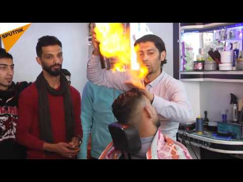 You Are On Fire: Meet Gaza's Fire Barber