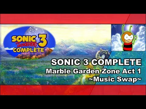 SONIC 3 COMPLETE: Marble Garden Zone Act 1 - Music Swap - (720P/60FPS)