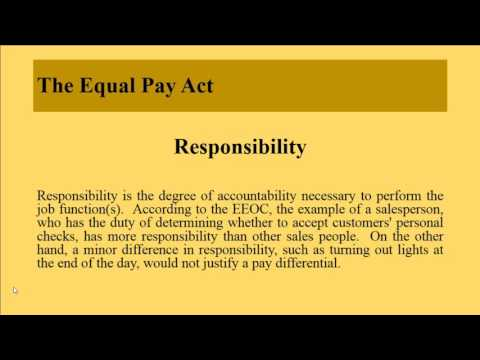 The Equal Pay Act,  Age Discrimination in Employment Act and Older Workers Benefit Protection Act
