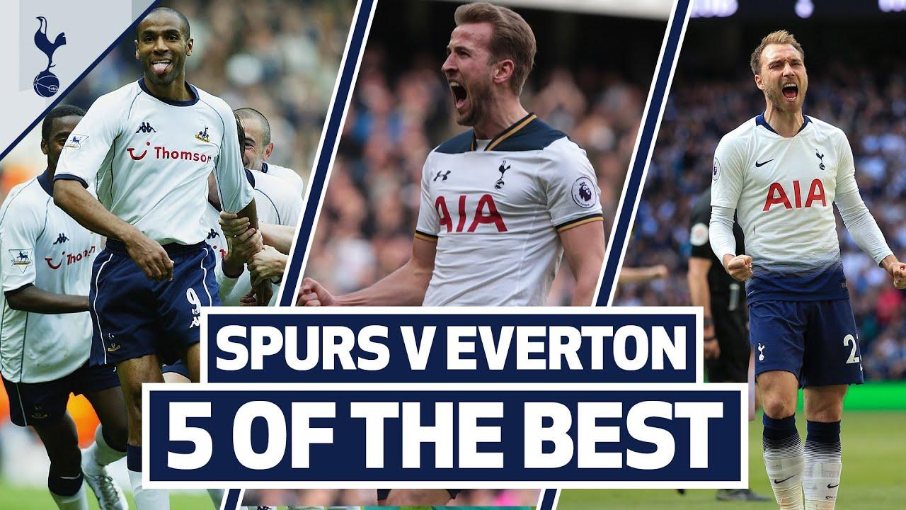 5 OF THE BEST | SPURS BEST GOALS V EVERTON | Ft. Kane, Kanoute, Eriksen and Keane!