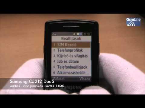 Samsung C5212 bemutató | www.GsmLine.hu