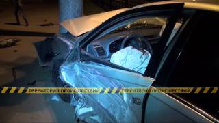 Две Тойоты столкнулись на перекрестке Фурманова и Райымбека в Алматы