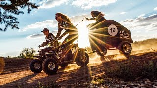 Video Mini Bike Chariot Racing at 33.4 MPH! download MP3, 3GP, MP4, WEBM, AVI, FLV September 2018