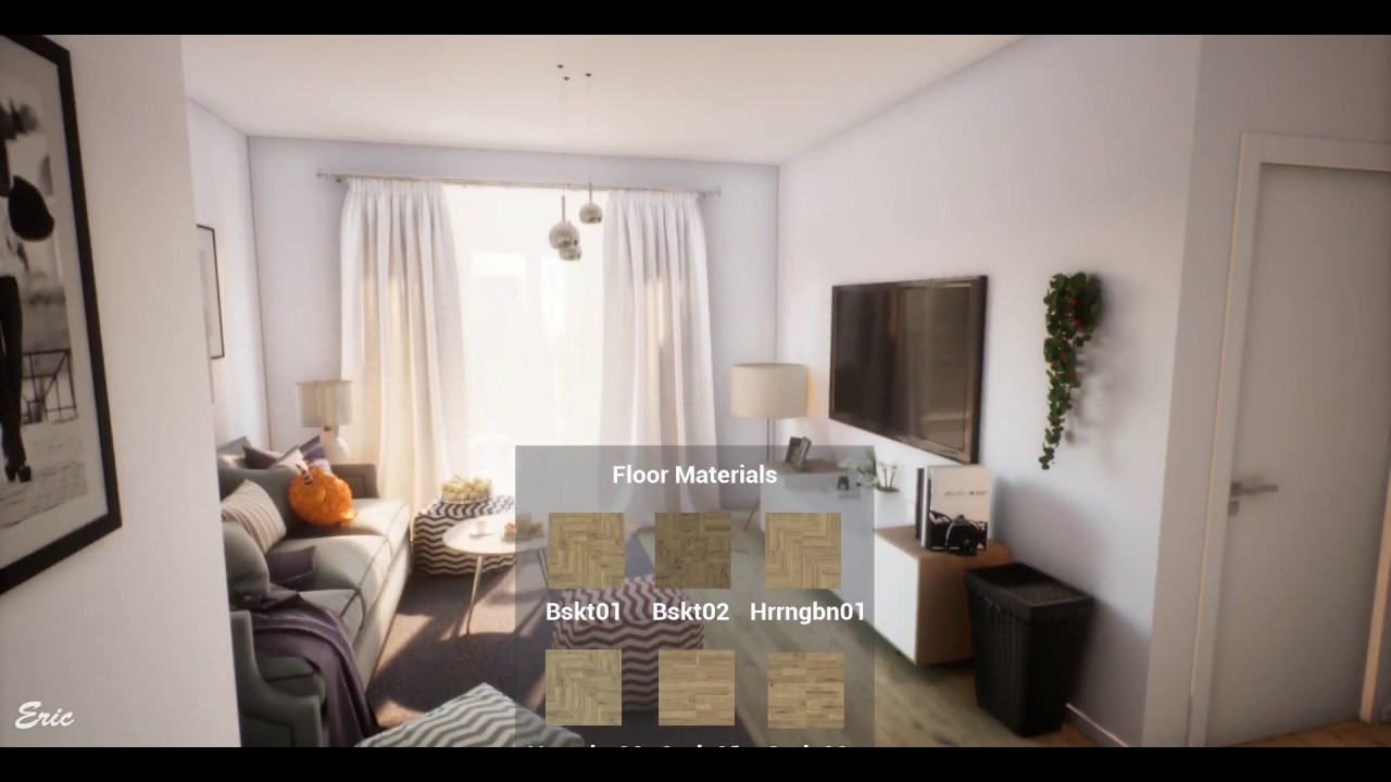 Ue4 Archviz Real Time Architecture Interactive Living Room
