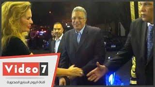 بالفيديو.. يسرا وهلال ومشعل وسامح فهمى ولكح فى عزاء ممدوح البلتاجى