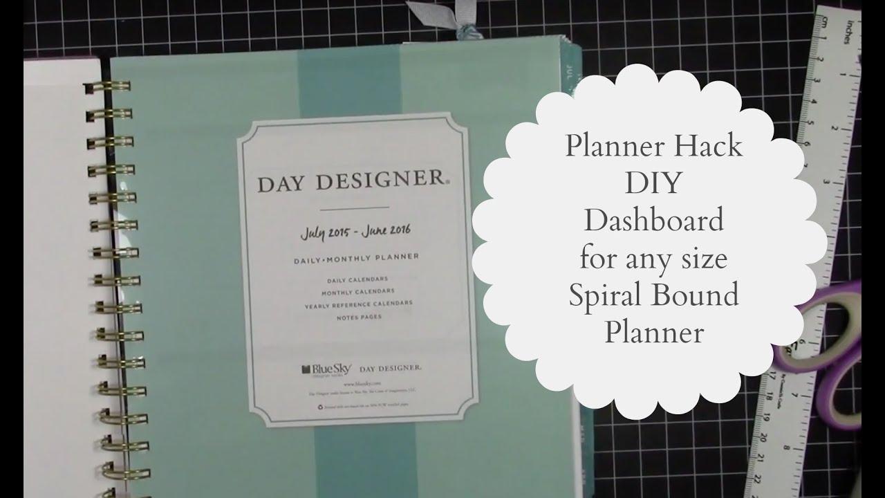 Planner hack diy dashboard for any spiral bound planner for What is a planner dashboard