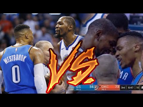 NBA Russell Westbrook VS Kevin Durant Plays